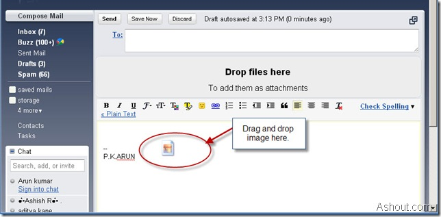 drag and drop image in gmail