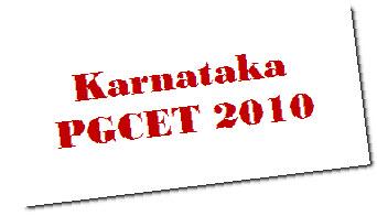 karnataka pgcet 2010