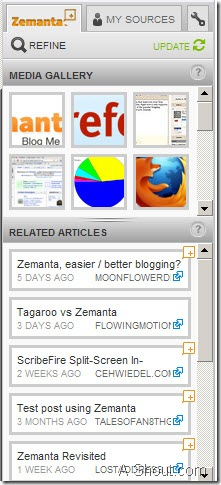 zemata when i was writing a post  in wordpress