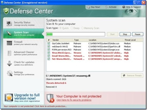 Defense Center Anti-virus