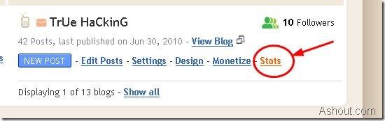 analytics in blogspot