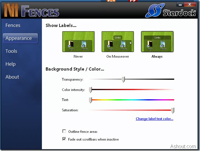 fences software screenshot