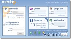 meebo login page