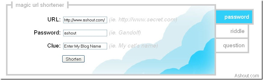 password protect url-trickly