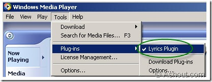 Activating Lyrics plugins in windows media player
