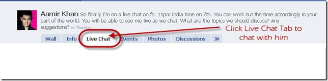 chat with aamir khan on facebook