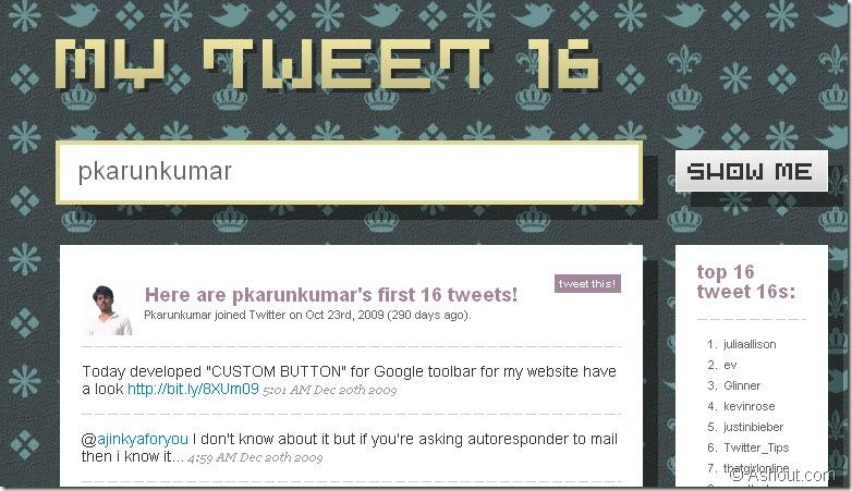 first 16 tweets