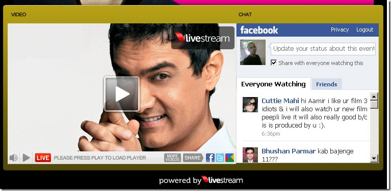 live chat with aamir khan