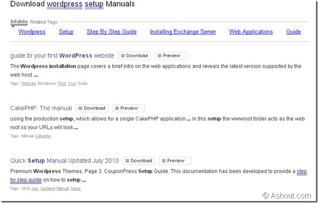 manual search engine