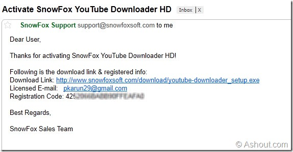 snowfox youtube downloader hd license