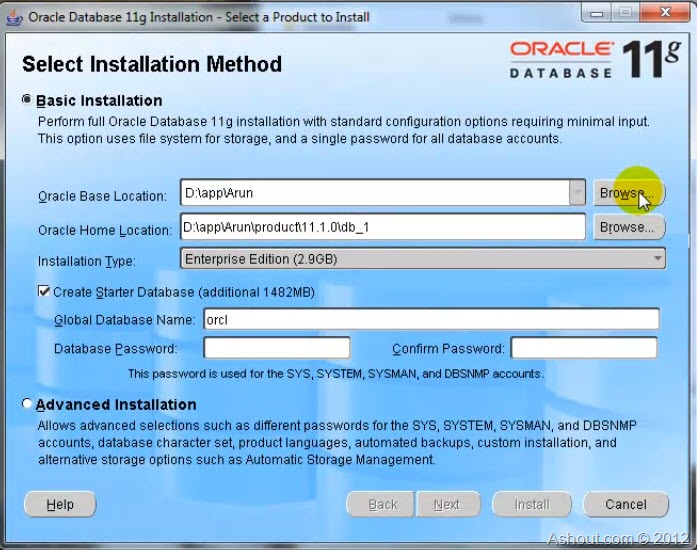 Installing Oracle 11g on Windows OS-Step by Step Guide