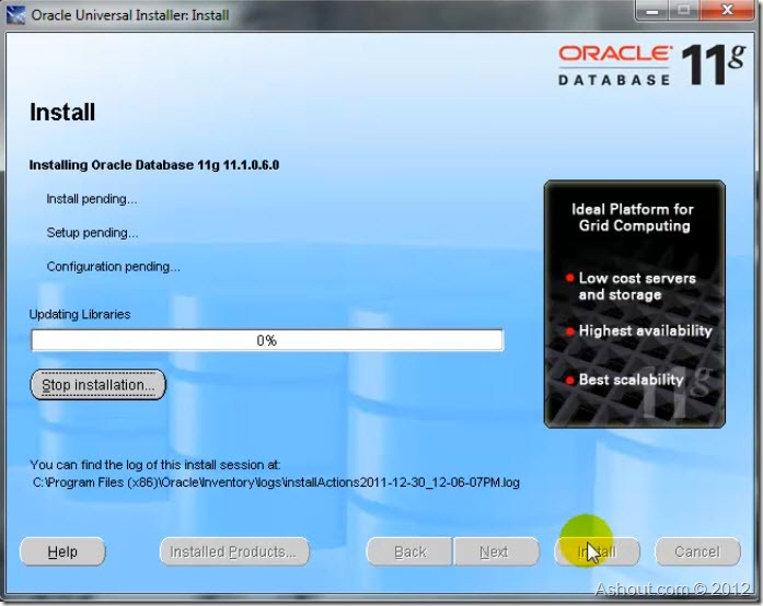 oracle 11g installation