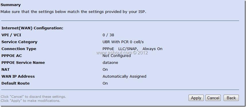 Internet(wan) configuration