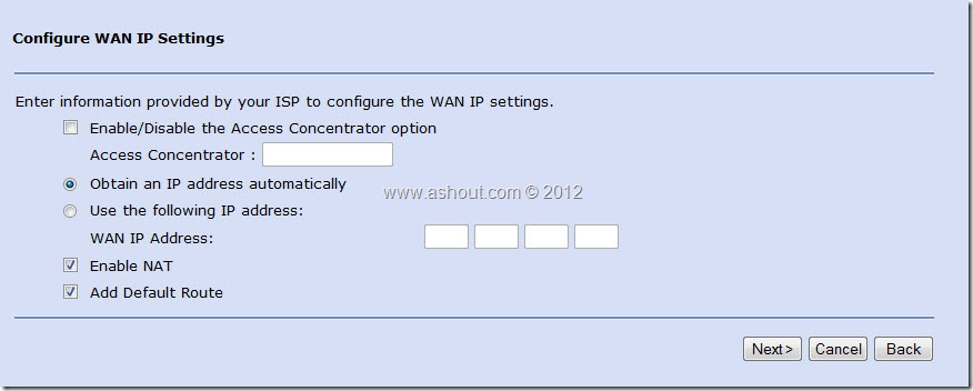 configure wan ip settings