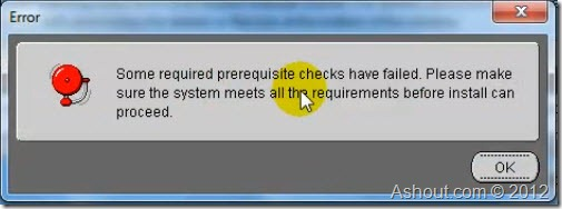 oracle 11g error during installation