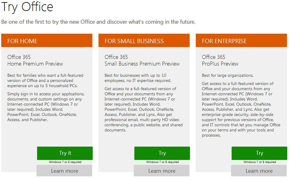 download office 2013 preview version