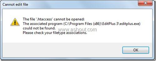 filetype associations error filezilla