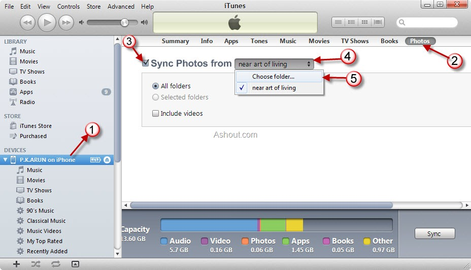photos how to delete from phone only