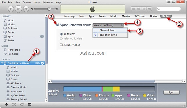 deleting photo albums from iphone using itunes