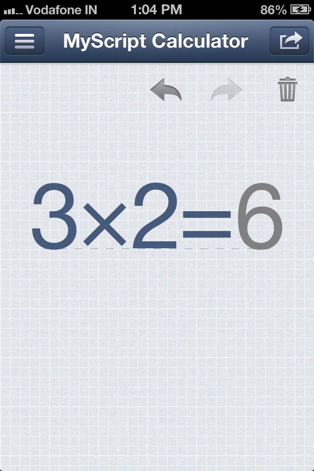 myscript iphone calculator