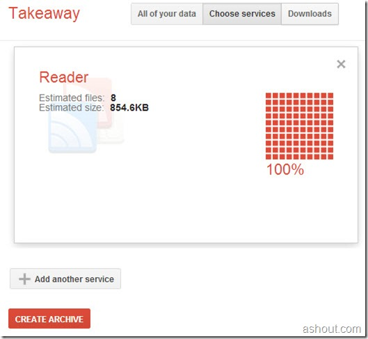 backup google reader