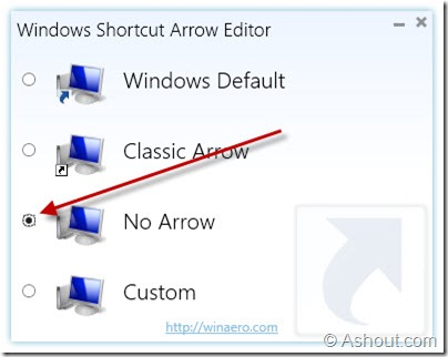 Windows Shortcut Arrow Editor to remove shortcut arrow in windows8