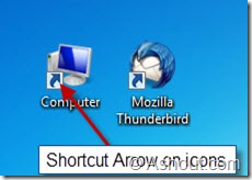 shortcut arrow in icons