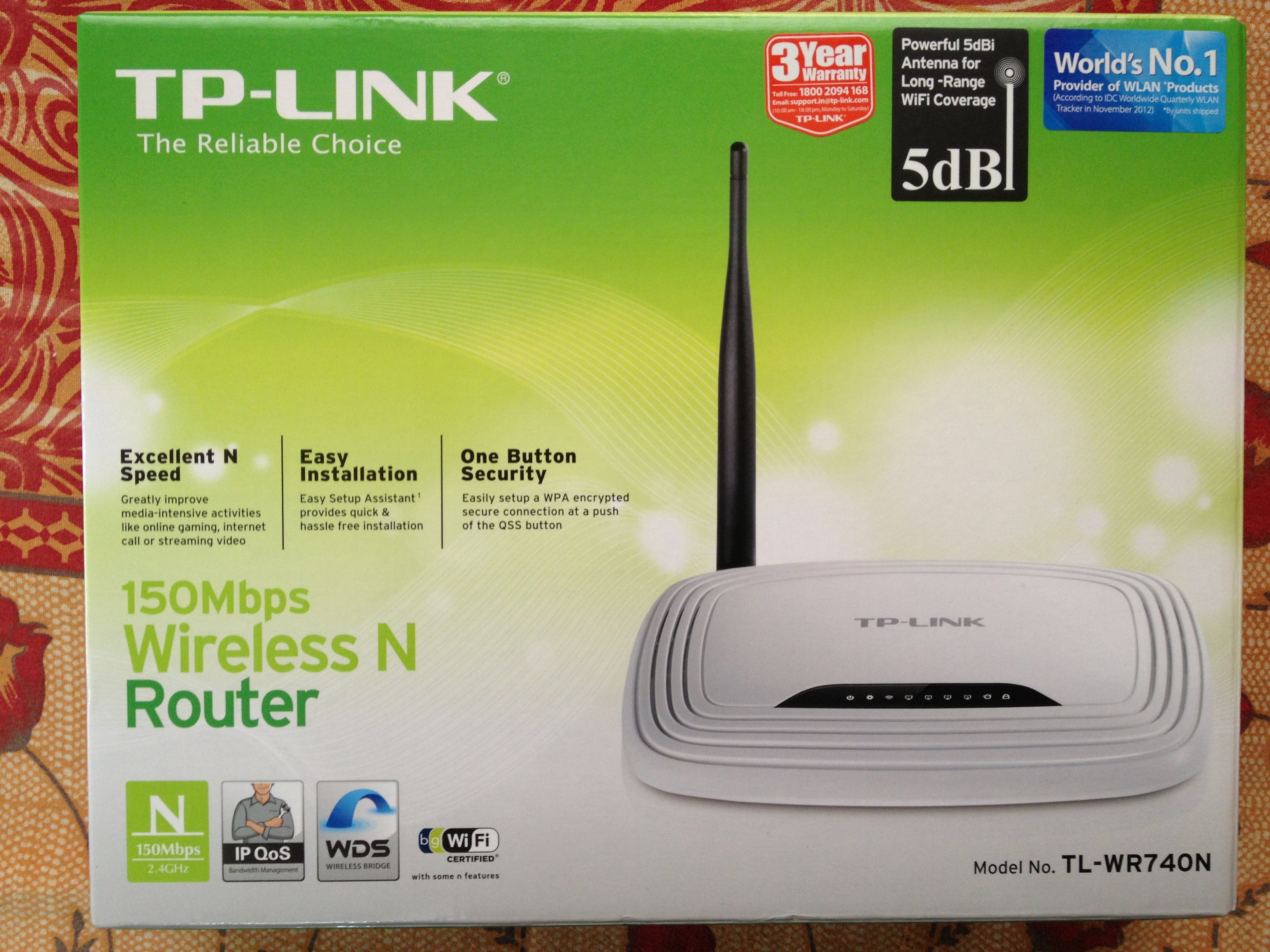 TP-LINK TL-WR740N box front view