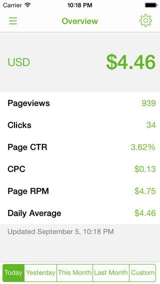 iphone adsense app