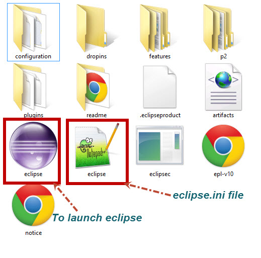eclipse folder