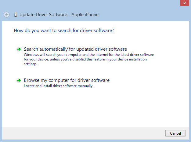 iphone driver updating