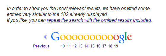 omitted results google