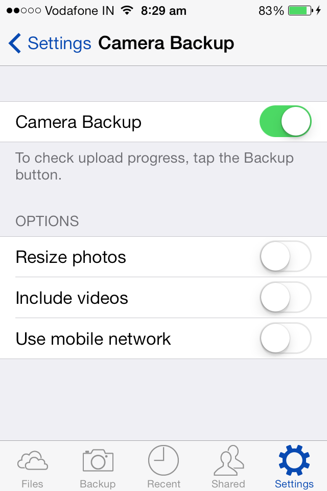 skydrive camera backup resize photos turn off