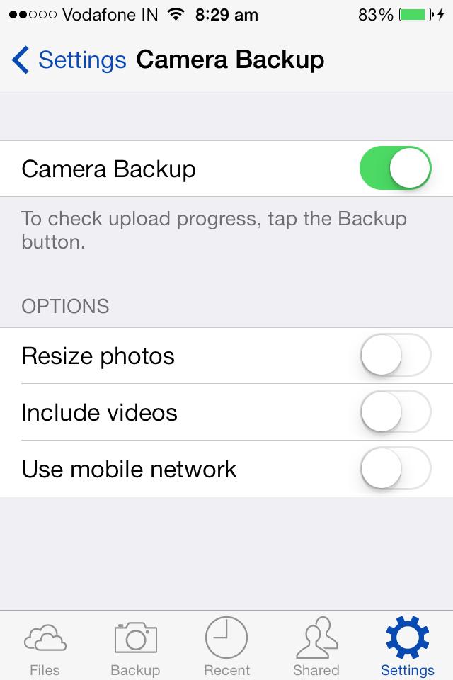 skydrive camera backup resize photos turn off