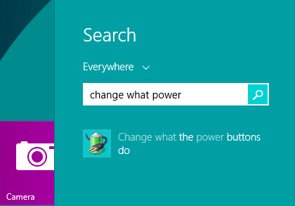change what the power buttons do in windows 8 os