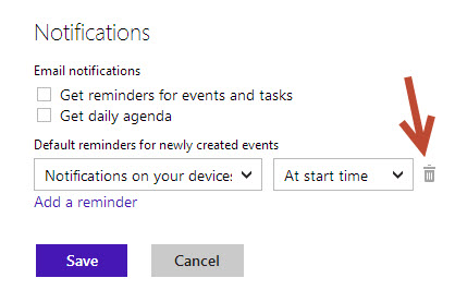 delete birthday alerts in windows 8 os