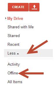 enable google drive offline access