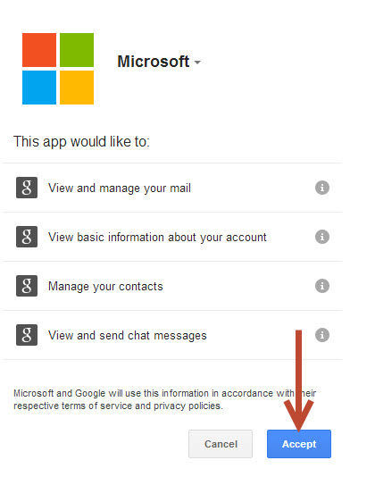 microsoft asking permission