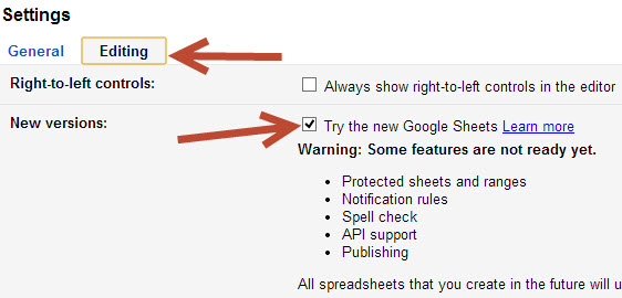 try new google sheets