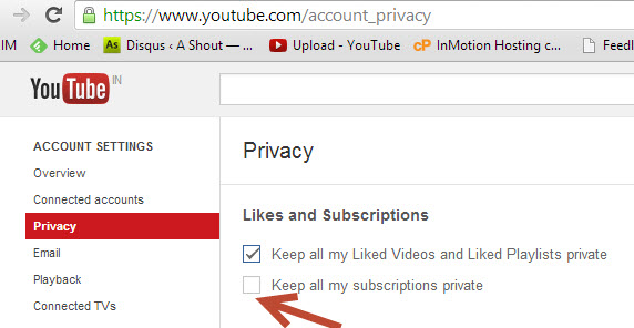 youtube account privacy