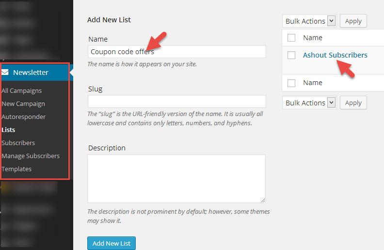 multiple list mymail plugin