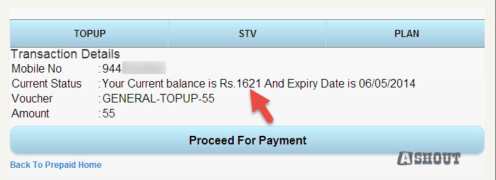 check bsnl mobile balance online