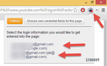 chromeipass username select