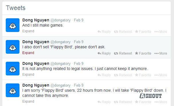 flappy brid creator twitter