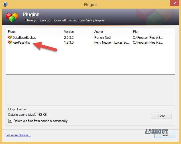 keepass plugin verification