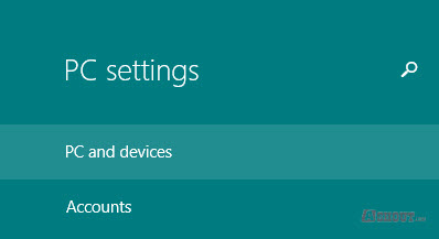 pc and devices windows 8