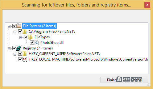 remove left over files after uninstallation