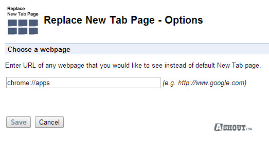 remove search box from new tab page google chrome