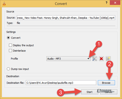 convert video to mp3 vlc