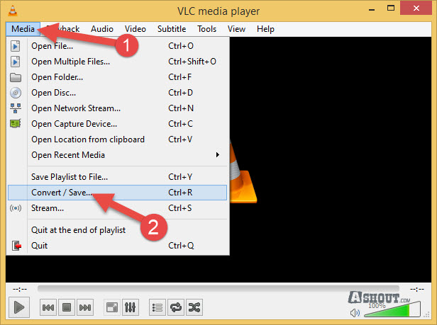 how to convert video to audio file vlc player
